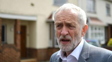 Jeremy Corbyn in Peterborough on 27 April