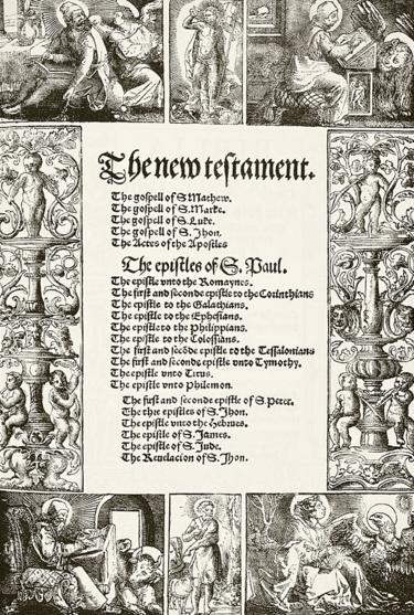 P�gina de la Biblia traducida al ingl�s de Tyndale