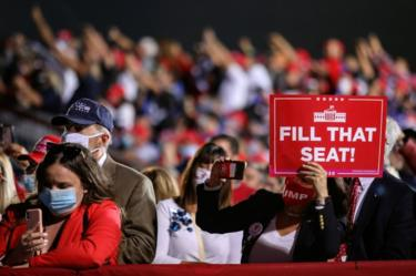 """Trump rallygoers in Ohio urged Trump to """"Fill that seat"""""""