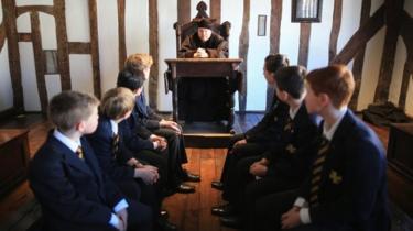 Aula scolastica di Shakespeare