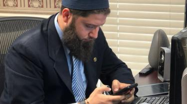 Hassan Shibly, lawyer for Hoda Muthana, in his office in Tampa, Florida, on February 20, 2019