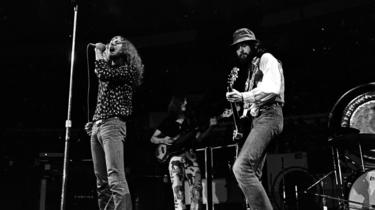 Led Zeppelin performing in Los Angeles in 1970