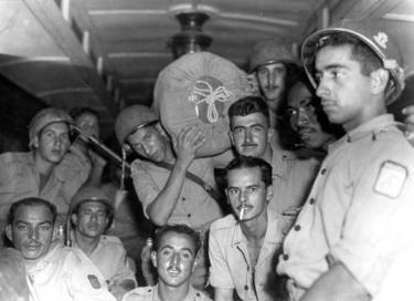 Soldados da FEB na viagem de retorno ao Brasil