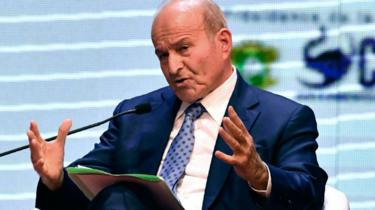 CEO of Algerian conglomerate Cevital Issad Rebrab speaks during the 6th EU-Africa Business Forum on November 27, 2017
