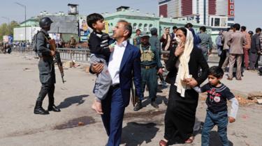 Evacuated civilians