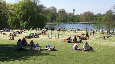 Regent's Park in London