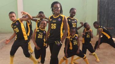 The Ikorodu Talented Kids and teacher Seyi