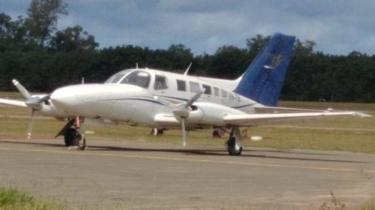 Police picture of the Cessna used in the operation