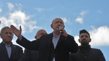 Kemal Kilicdaroglu addresses crowds