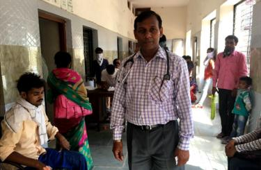 Dr Anand Kumar in the hospital