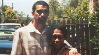 Daniel Love (L) and a relative