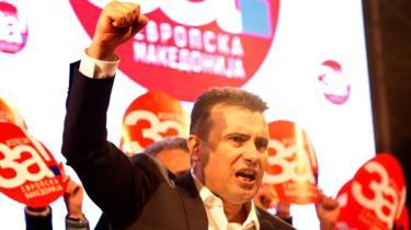 Prime Minister Zoran Zaev campaigns on 26 September