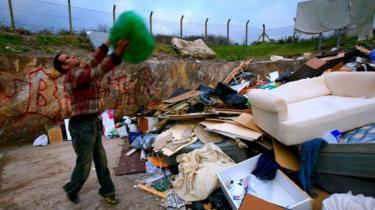 Rubbish dump in UK