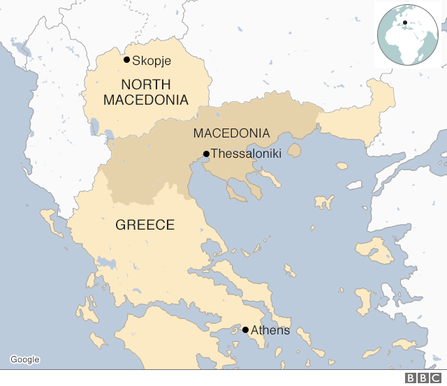 North Macedonia map