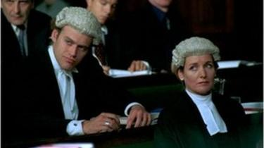 Scene from BBC series Judge John Deed