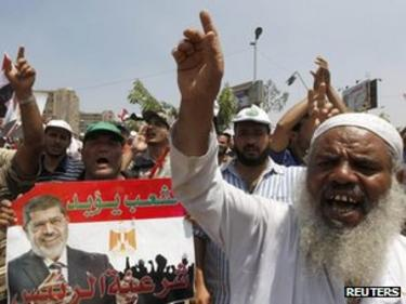 Supporters of Mohammed Morsi in Cairo (4 July 2013)