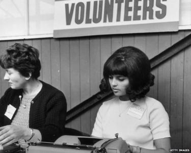 Recruitment drive in Twickenham, London 1966