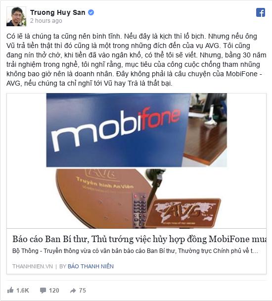 Facebook bởi Huy San: Có lẽ là chúng ta cũng nên bình tĩnh. Nếu đây là kịch thì lố bịch. Nhưng nếu ông Vũ trả tiền thật thì đó cũng là một...