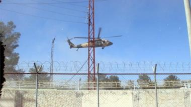 An Afghan Army helicopter takes off from a military base after Taliban launched first large-scale attack on the capital of southwestern Helmand province in Afghanistan since the signing of a peace deal with the United States in late February, in Lashkargah, Helmand, Afghanistan, 14 October 2020.