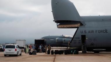 A US Air Force aircraft at Joint Base Andrews