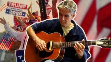Jim White playing guitar