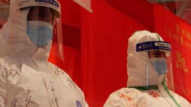 medic suits in wuhan exhibition