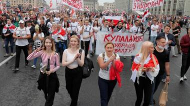 Protest against the results of the presidential elections, in Minsk, Belarus 23 August 2020
