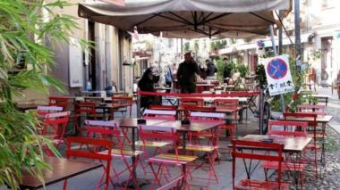 Empty chairs at the Balon, the historic flea market of Turin