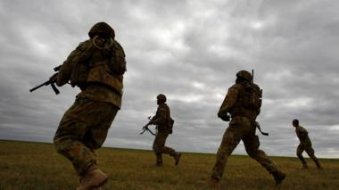 Australia special forces conduct an exercise in Melbourne