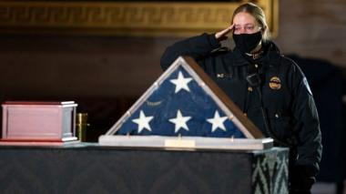 Officer salutes Sicknick