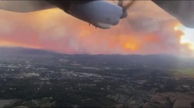 California fires seen from a plane