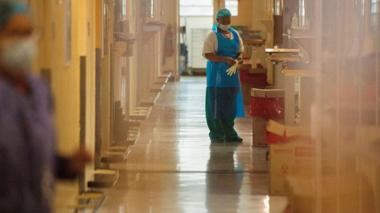 woman in South African hospital wearing PPE