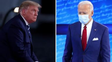 Donald Trump and Joe Biden take part in rival televised Q&A sessions