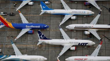 Grounded Boeing 737 MAX aircraft are seen parked at Boeing facilities at Grant County International Airport in Moses Lake, Washington, U.S. November 17, 2020.