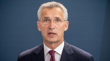 NATO Secretary General Jens Stoltenberg speak to reporters after meeting German Chancellor Angela Merkel at chancellery in Berlin, Germany August 27, 2020