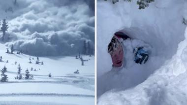 Avalanche in Utah, man trapped in snow