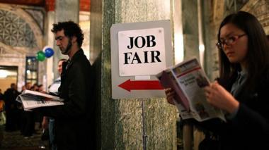 Job fair in California (file photo)