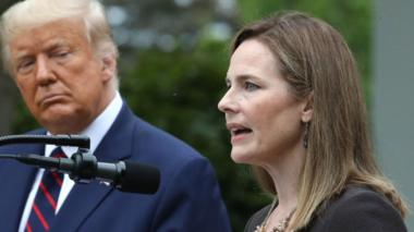 Amy Coney Barrett at White House nomination ceremony. 26 September