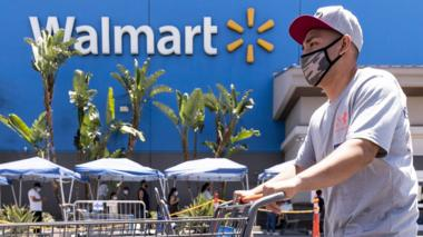 shopper in mask at Walmart