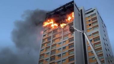 Fire at Madrid tower block