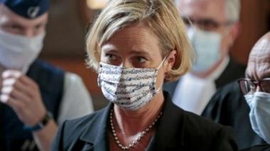 Delphine Boël leaves court in Brussels on 10 September 2020