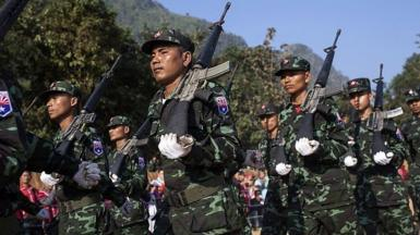 Karen National Liberation Army soldiers
