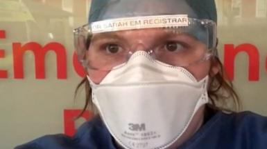 Dr Sarah Edwards in PPE