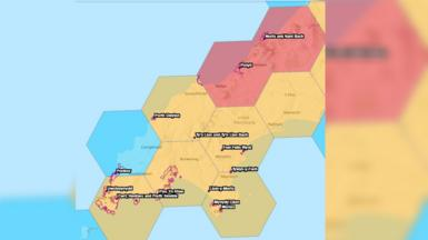 Map o effaith posib newid hinsawdd ar Ben Llŷn