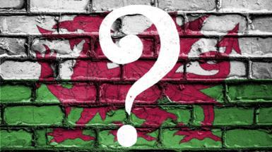 Baner Cymru a marc cwestiwn