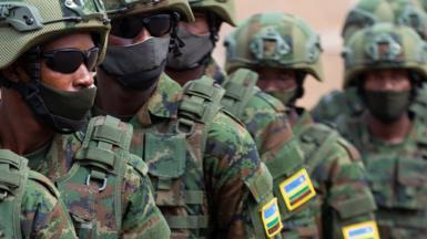 Rwandan military troops depart for Mozambique - Kigali, Rwanda, 10 July 2021