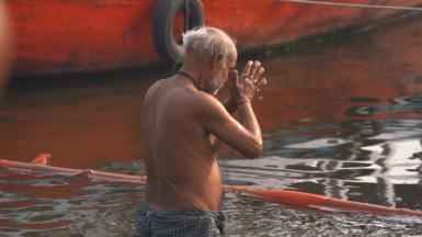 Man in Ganges