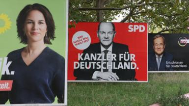 Election placards in Germany