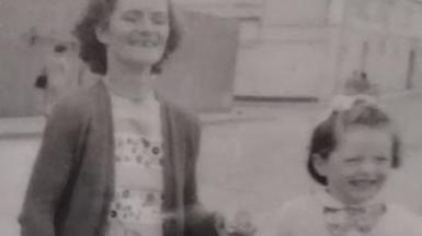 Anna, aged four, on a day trip with her late mother Bridget