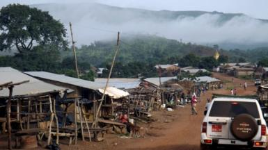 Mist shrouds the Simandou mountains in Beyla, Guinea, June 4, 2014